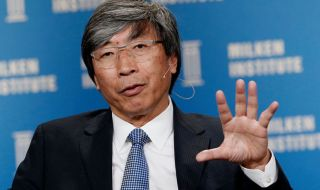 Patrick Soon-Shiong, founder and chief executive officer of NantHealth, speaks during the annual Milken Institute Global Conference in Beverly Hills, California, U.S., on Monday, April 27, 2015. The conference brings together hundreds of chief executive officers, senior government officials and leading figures in the global capital markets for discussions on social, political and economic challenges. Photographer: Patrick T. Fallon/Bloomberg via Getty Images