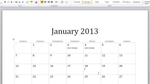How to Create Calendar in Word HowTech