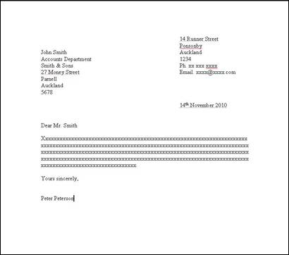 Letter Writing \u2013 How to Set Out a Formal Letter Yellow How To