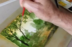 John Salmon demo watercolor