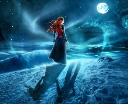 Anime Wallpaper Girl Looking At Stars Are Redheads Also Moon Children