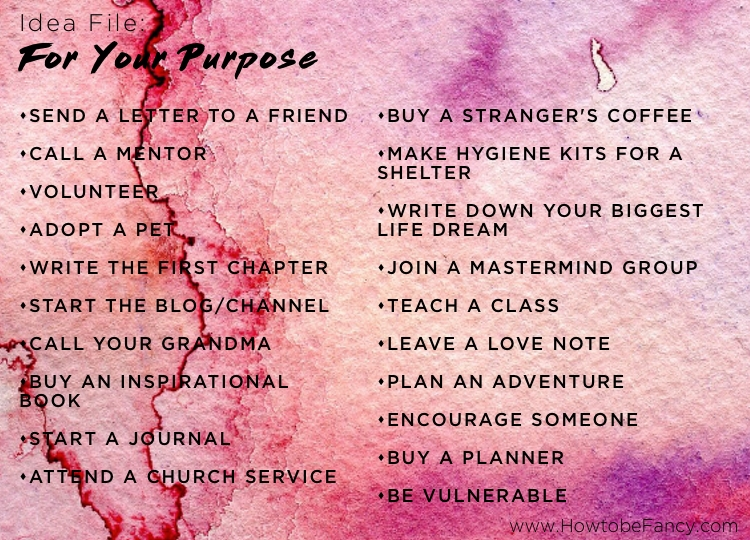 IDEAS FOR PURPOSE