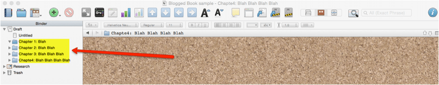 use scrivener to create a how to book