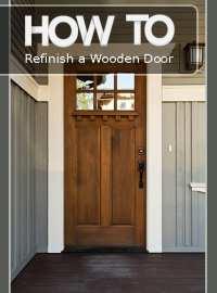 How to Refinish A Wooden Door - How To Build It