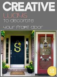 A Break from Boring Front Door Decor - How To Build It