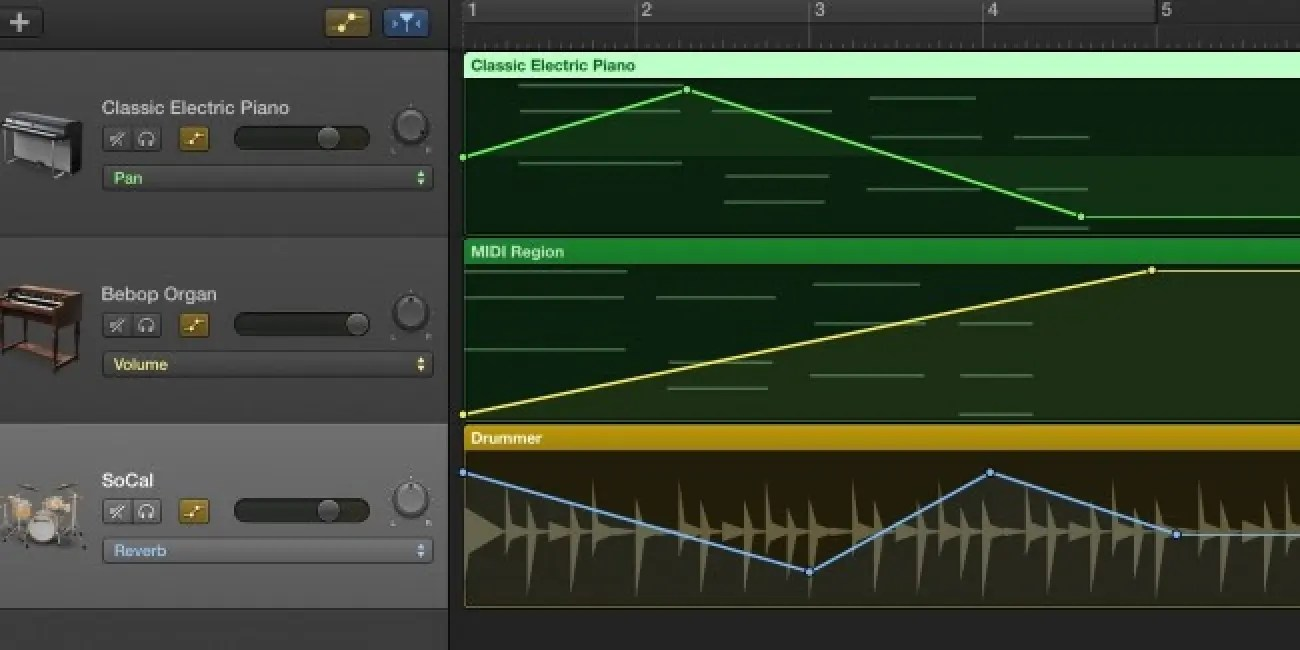Garageband Fade In How To Automate Volume Panning And Other Effects In Garageband