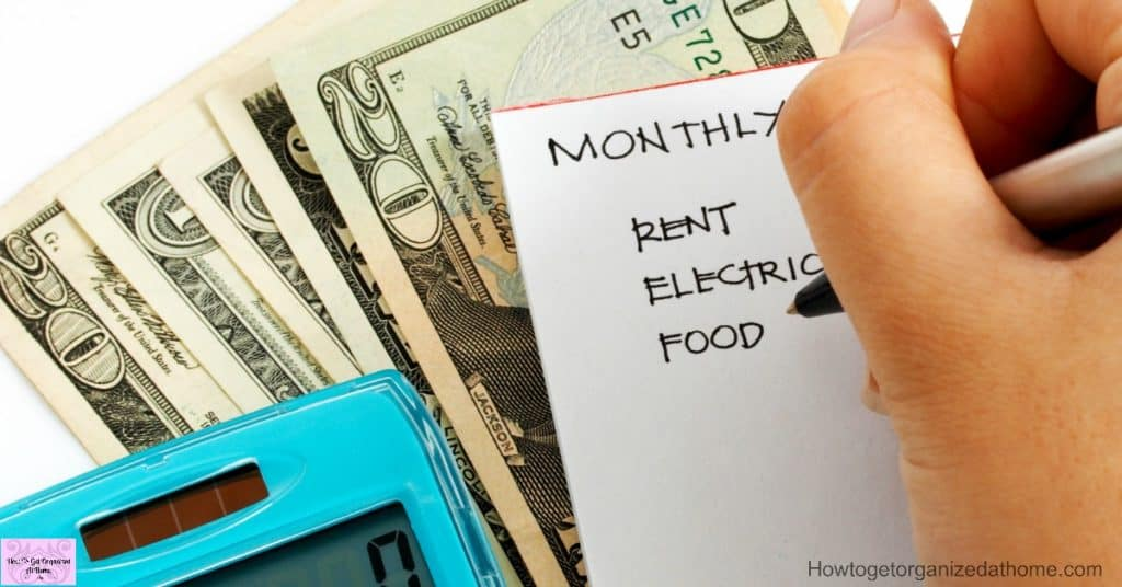 Creating A Budget - How To Get Organized At Home - creating a budget