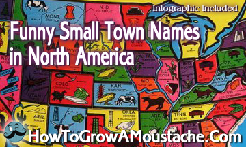 Funny Small Town Names in North America (Infographic)