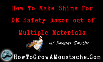 How To Make Shims For DE Safety Razor (Using Multiple Material)