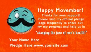 Free Movember Pledge Card Template