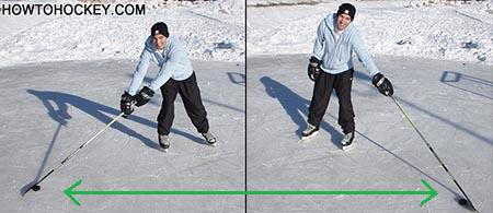 Practicing reach in hockey