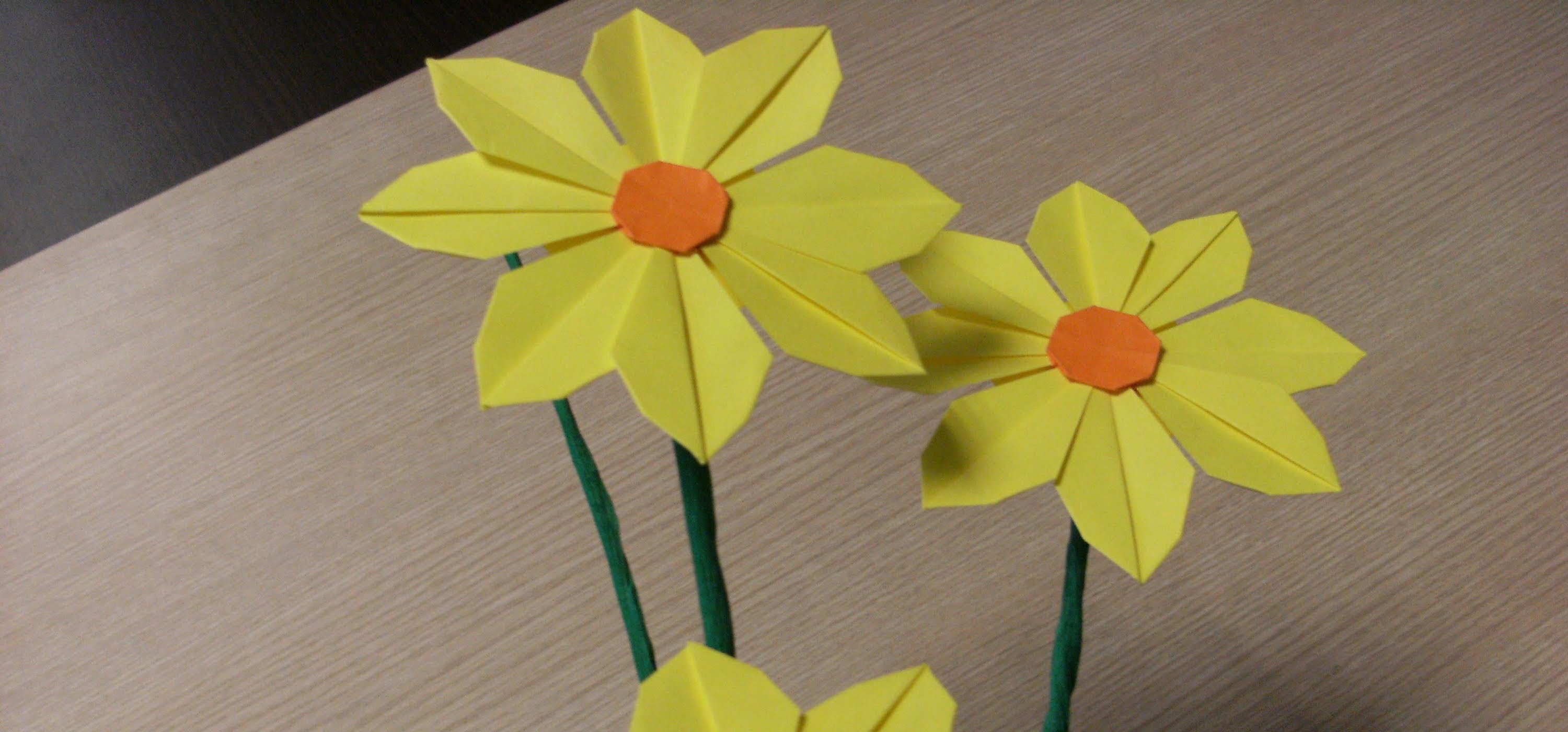 How To Make Handmade Flowers From Paper How To Make Pretty Paper Craft Origami Yellow Flower Step