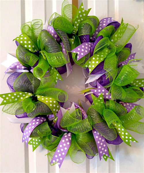 Spring Wreath Ideas How to Make a Deco Mesh Wreath - photo of spring