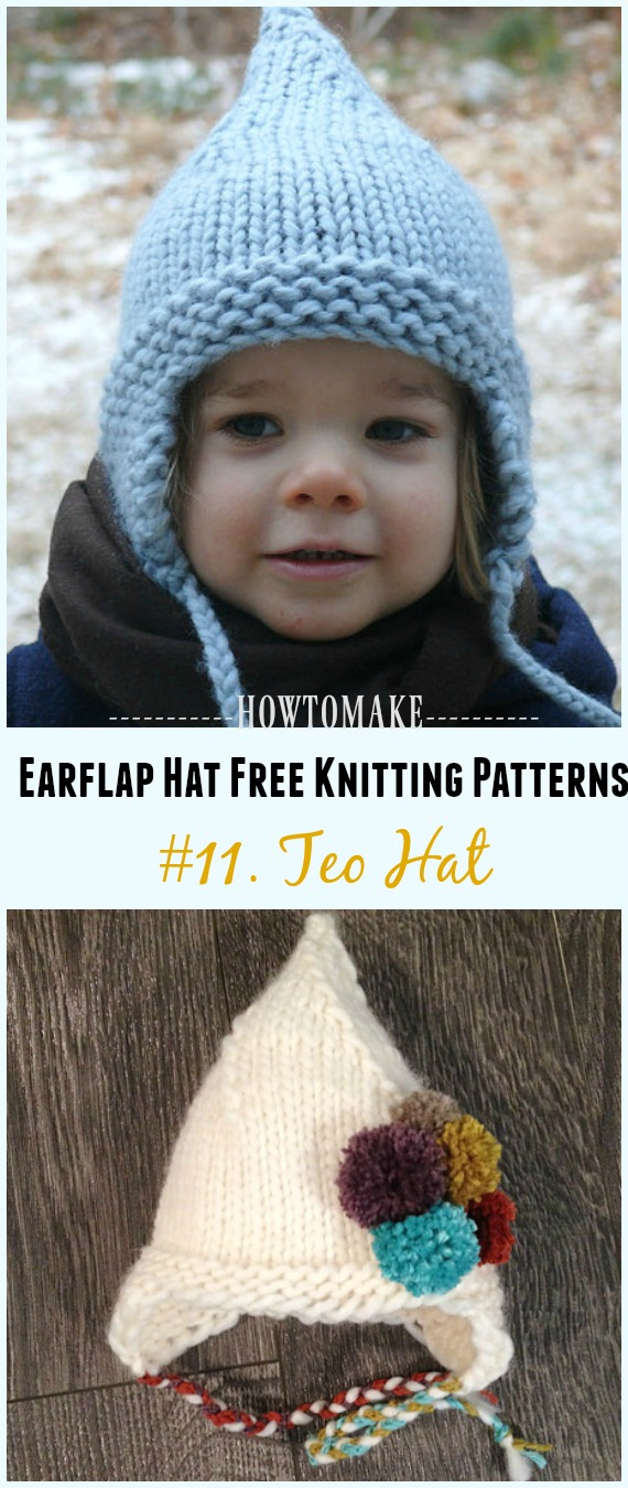 Garter Ear Flap Hat Earflap Hat Free Knitting Patterns - Page 3 Of 3 - Crochet