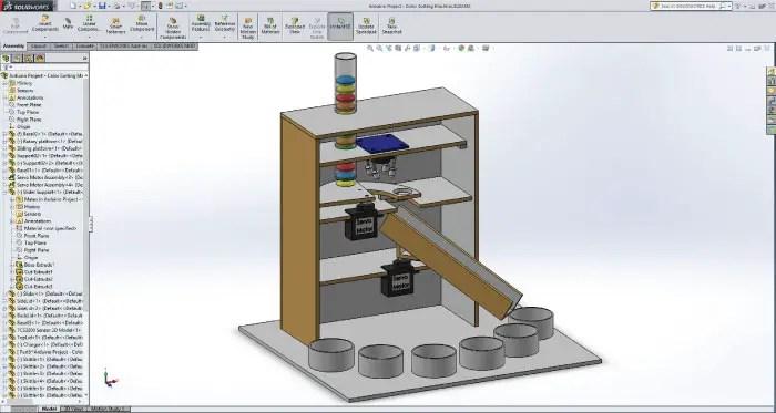 Arduino Color Sorter Project - HowToMechatronics