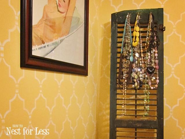 Old Window Shutter Necklace Holder