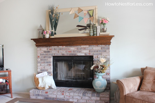 What To Put On Fireplace Mantel Upcycle It: Painted Large Ceramic Vase - How To Nest For Less™