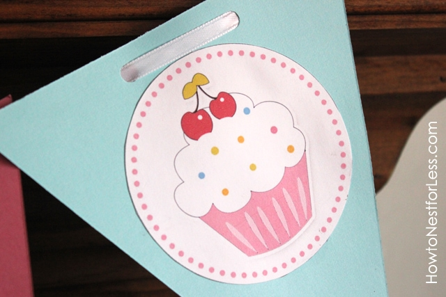cupcake birthday banner - How to Nest for Less™