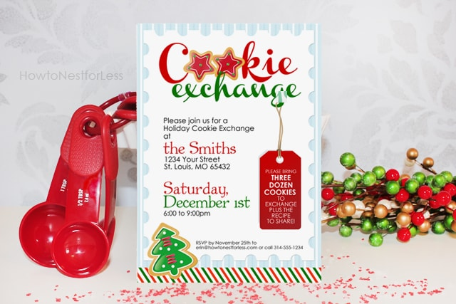 Cookie Exchange Party {free printables} - How to Nest for Less™ - holiday party invitations free