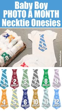 Baby Boy DIY Necktie Onesies {free printables} - How to ...