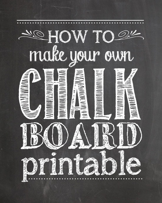 How to Make Your Own Chalkboard Printables - How To Nest For Less - chalk board invitation template
