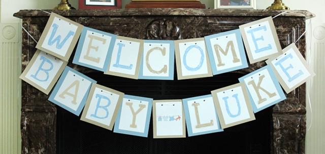 welcome baby boy banner 3slufsluidsprekers
