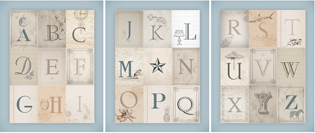 Nursery Alphabet Wall Art {free printables} - How to Nest for Less™
