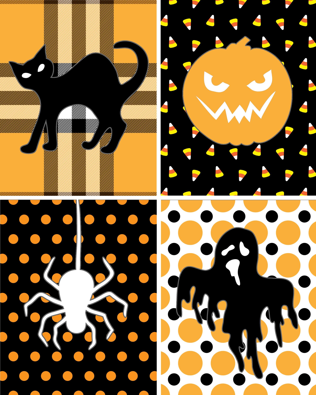 printable halloween decorations halloween silhouette free printables download
