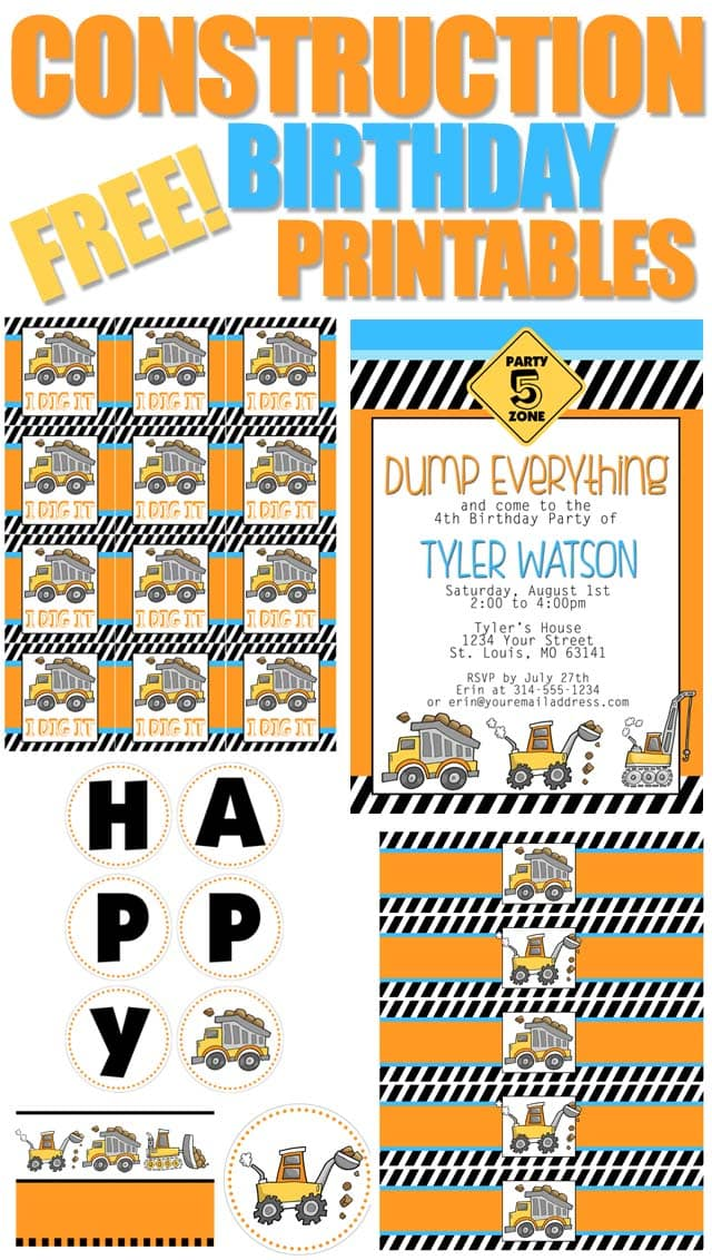 Construction Birthday Party with FREE Printables - How to Nest for Less™