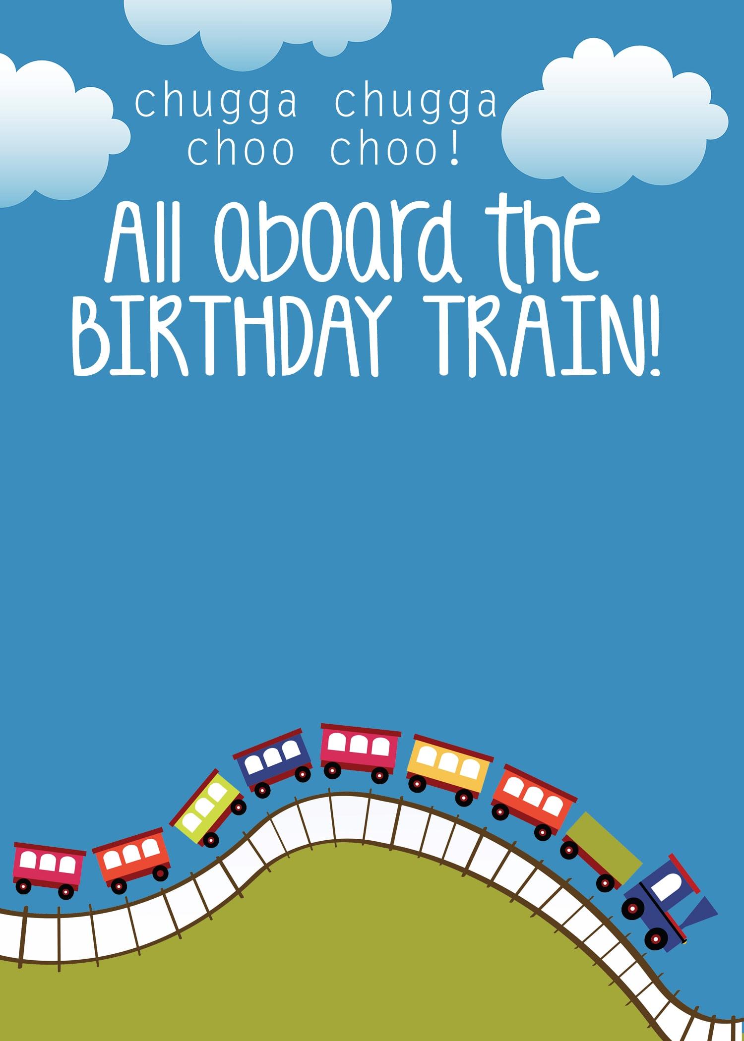 train party invitations templates