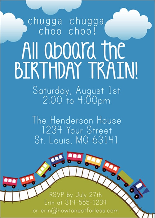 Train Birthday Party with FREE Printables - How to Nest for Less™