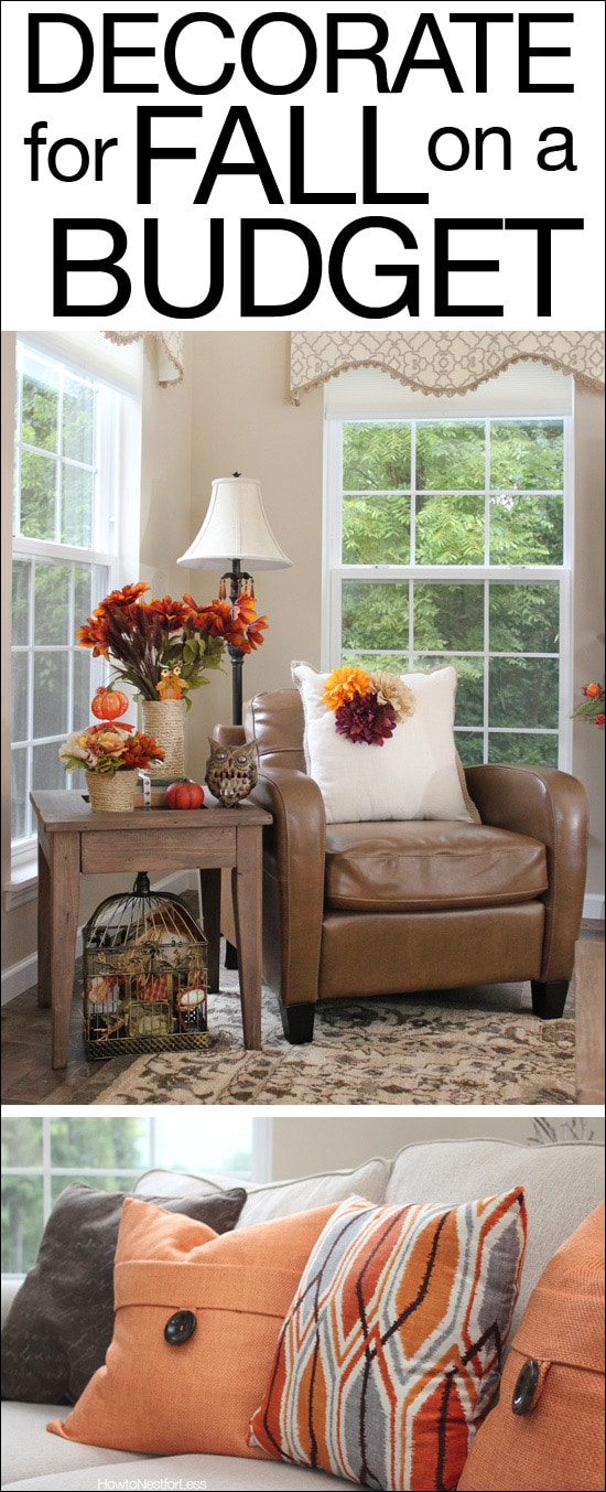 Fall Decorating on a Budget - How to Nest for Less™ - home decor on a budget