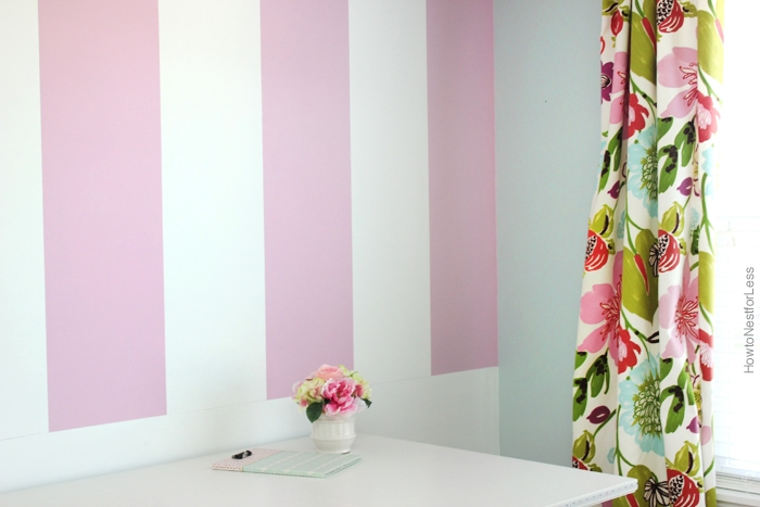Striped Craft Room Walls - How To Nest For Less™