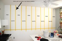 Striped Craft Room Walls - How to Nest for Less
