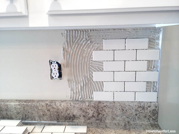 kitchen backsplash diy tutorial install backsplash install kitchen backsplash