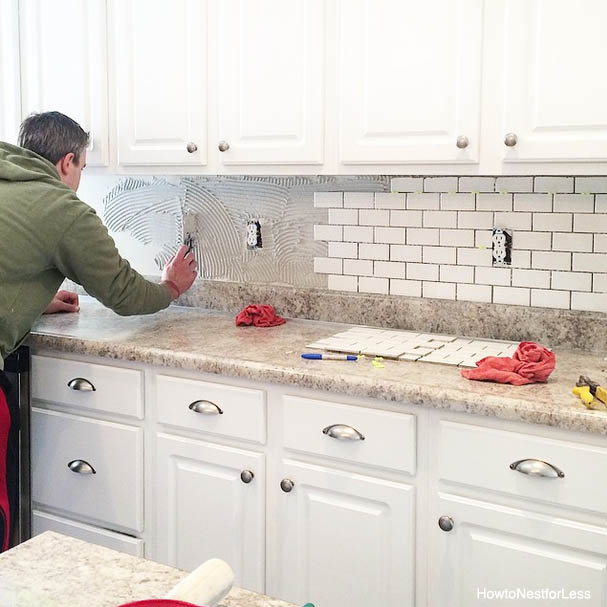 kitchen backsplash tutorial install backsplash install kitchen backsplash
