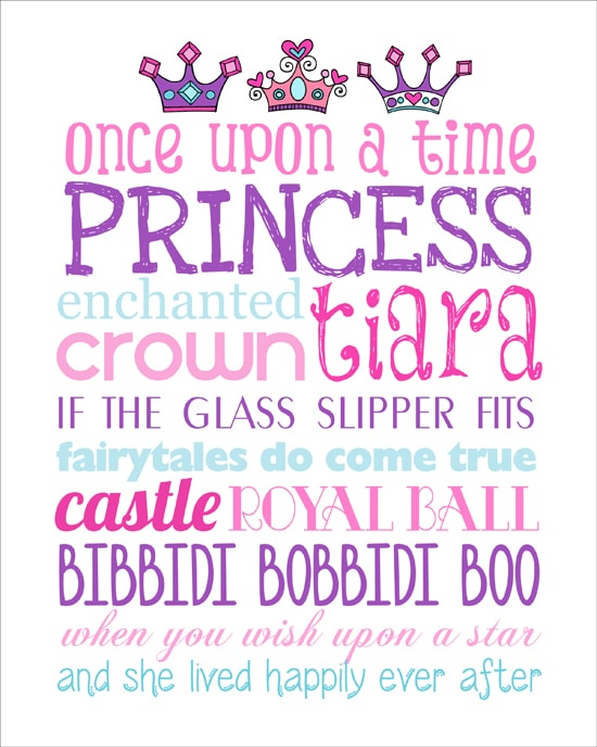 Princess Subway Art Free Printable - How to Nest for Less™