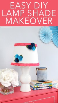 DIY Floral + Ruffle Lamp Shade - How to Nest for Less