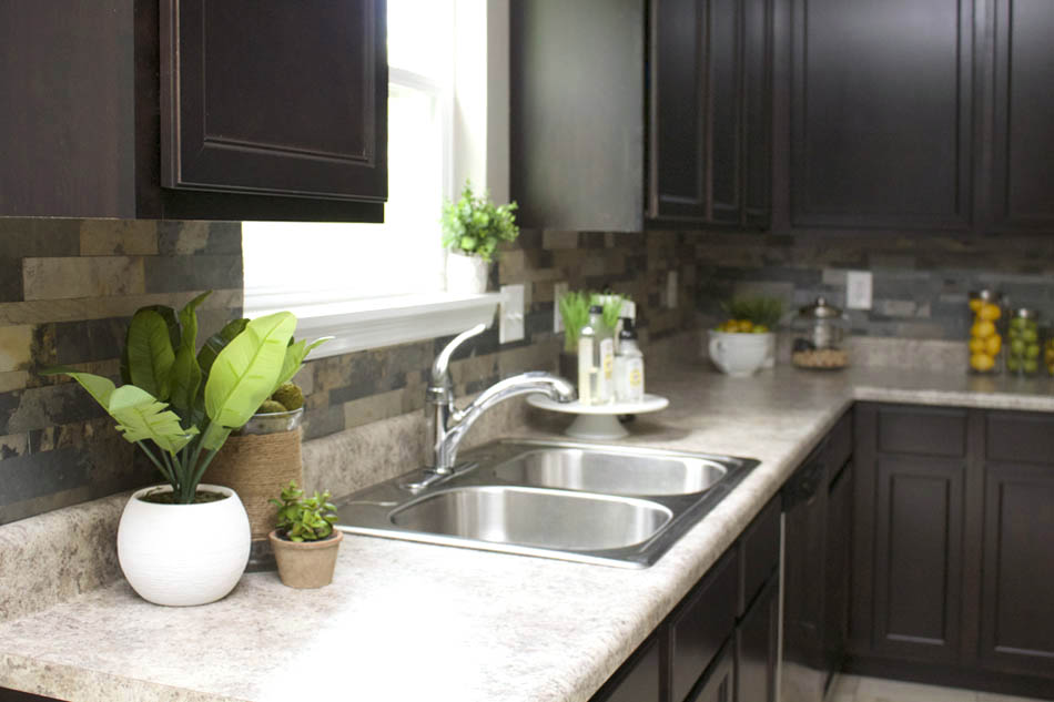 Installing Kitchen Wall Cabinets Faux Stone Kitchen Backsplash - How To Nest For Less