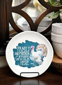 DIY Thanksgiving Decorative Plate - Under $2 to Make!