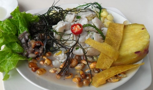 Ceviche at Don Rulo, Trujillo
