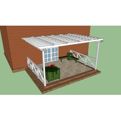 Small Crop Of Pergola Attached To House