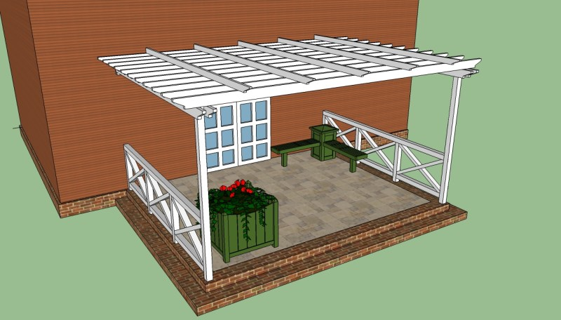 Large Of Pergola Attached To House