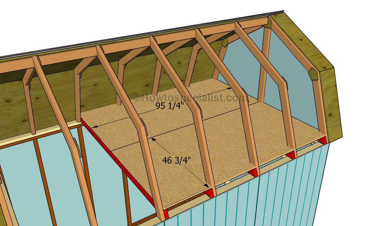 how to build gambrel roof