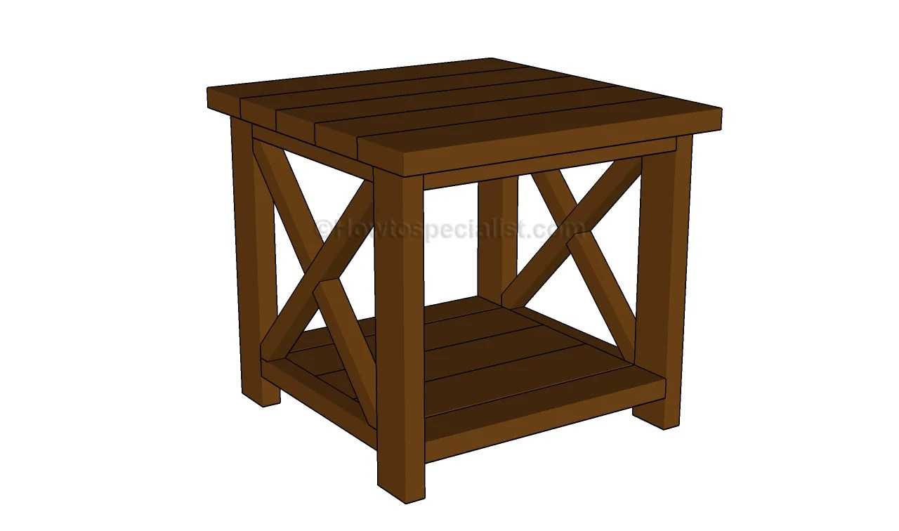 End Table Plans Howtospecialist How To Build Step By