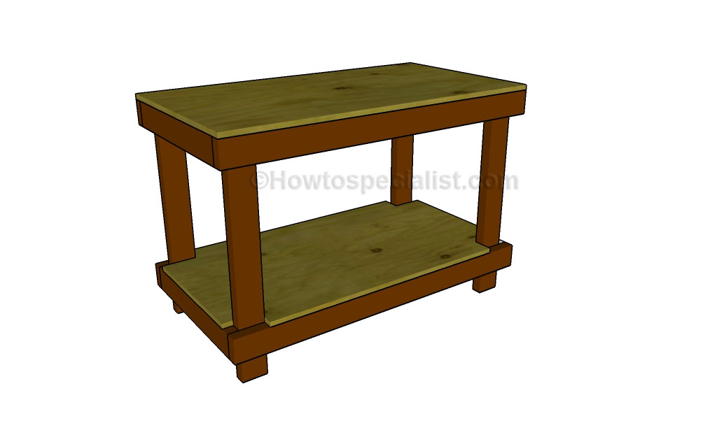 How To Build A Work Table Howtospecialist How To Build