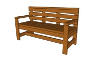 Patio Bench Plans | HowToSpecialist - How to Build, Step ...