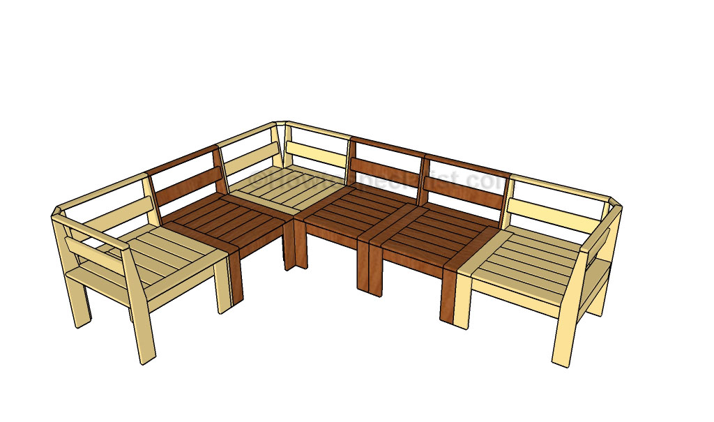 Patio Sectional Plans Corner Outdoor Sectional Plans | Howtospecialist - How To
