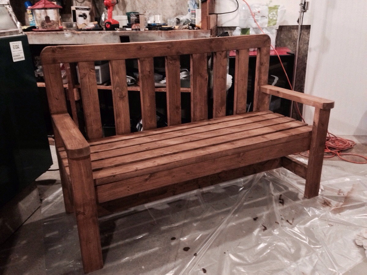 Diy Indoor Bench Seat Diy 2x4 Bench Howtospecialist How To Build Step By