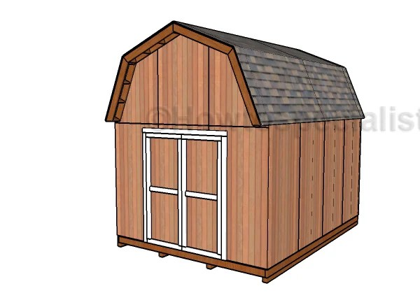 12x16 Gambrel Shed Plans Howtospecialist How To Build